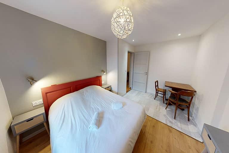 Chambre au rdc de la villa du Hohneck accessible en fauteuil