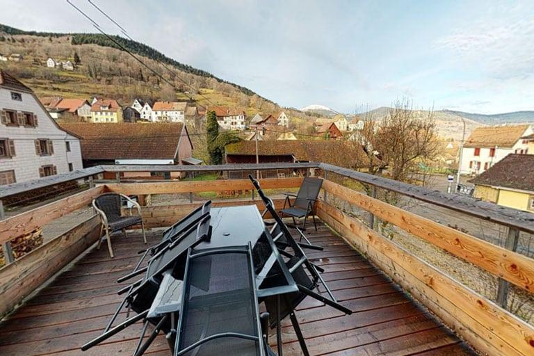 Terrasse au 1er étage de la villa du Hohneck